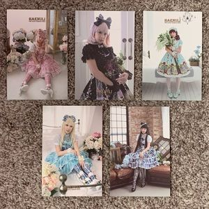 Assorted Lolita Fashion Postcards